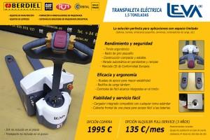 ofertas transpaleta electrica berdiel carretillas zaragoza